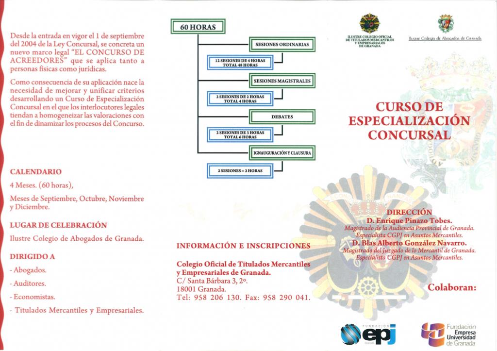 Especialización Concursal 2009